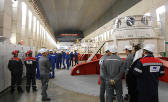 НаУсть-Хантайской ГЭС сдан вэксплуатацию пятый гидроагрегат