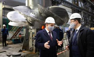 Губернатор Дмитрий Азаров встретился сруководством иколлективом АО«ТЯЖМАШ»