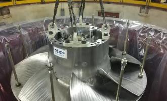 Нагидроагрегатест. №1Верхне-Туломской ГЭС начался ответственный этап монтажа оборудования производства АО«ТЯЖМАШ»