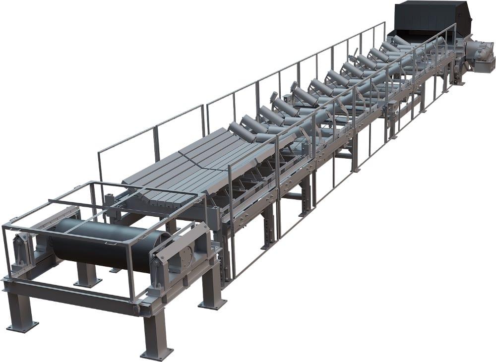 Конвейер ленточный стационарный с шириной ленты 1 200 мм